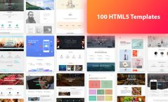 100 HTML5 free template bundle