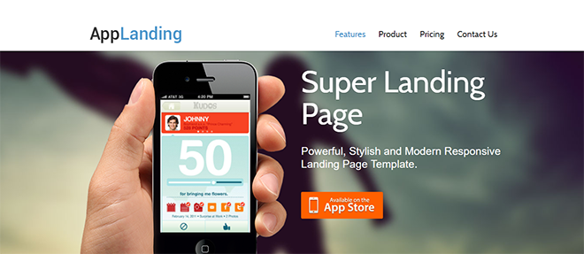 Free HTML Landing Page Templates Built With HTML And Bootstrap - Mobile app landing page template free