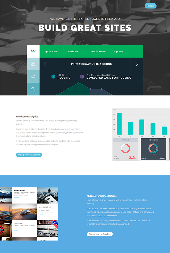 Free HTML Landing Page Templates Built With HTML And Bootstrap - Website landing page templates