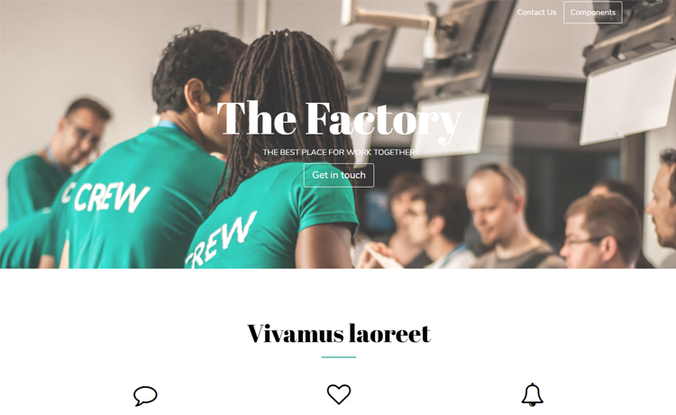 free HTML5 startup website template
