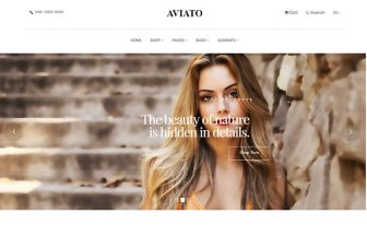ecommerce website template for online shop