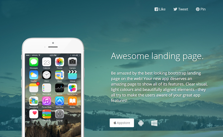 free responsive html5 landing page