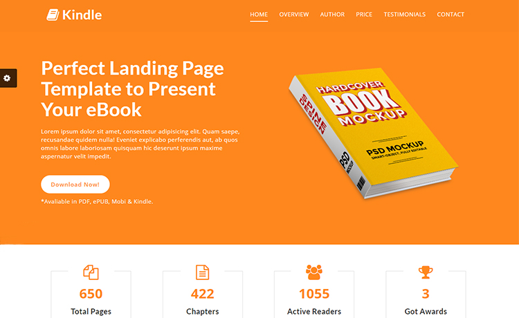 Free HTML5 eBook Landing Template