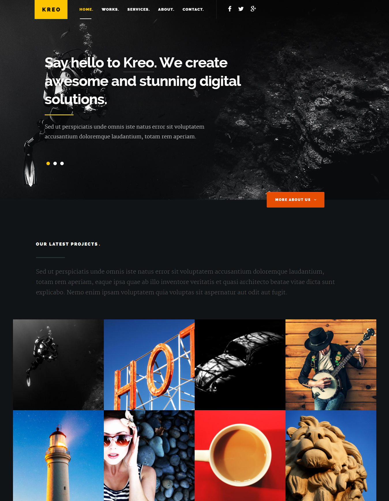 entertainment website templates