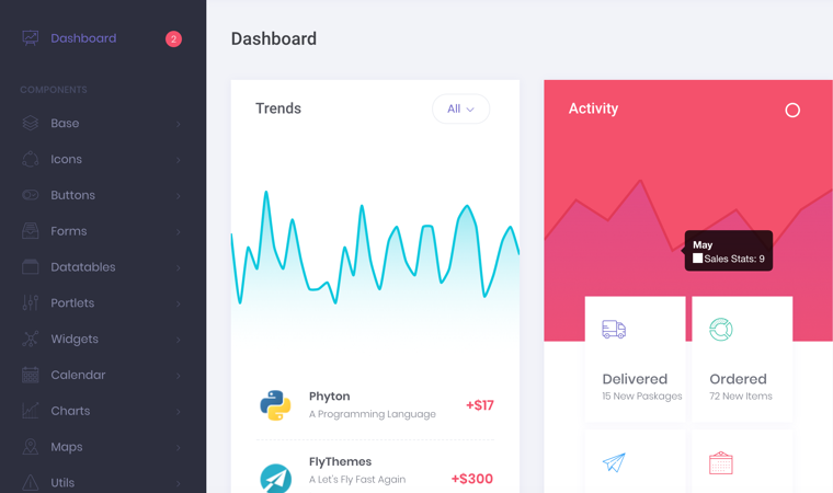Free Premium Best HTML Bootstrap Admin Dashboard Template In - Simple dashboard html template
