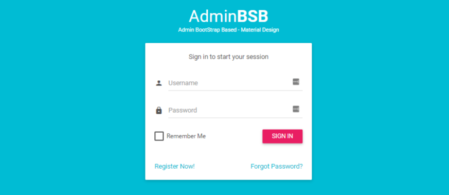 Material Design Free Bootstrap Admin Dashboard With Endless
