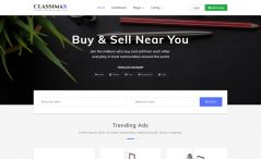 bootstrap 4 classified website template