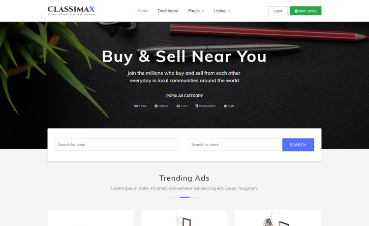 free html product page template - bootstrap 4 classified website template download from