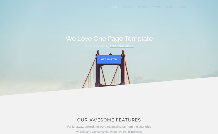 Free Bootstrap 4 One Page Template