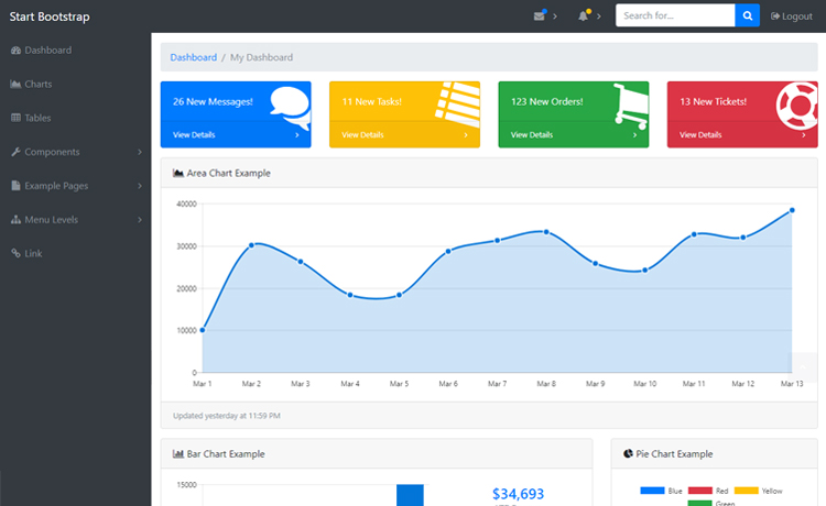 Top 10+ Free Admin Dashboard Backend Bootstrap HTML5 Templates in 2018