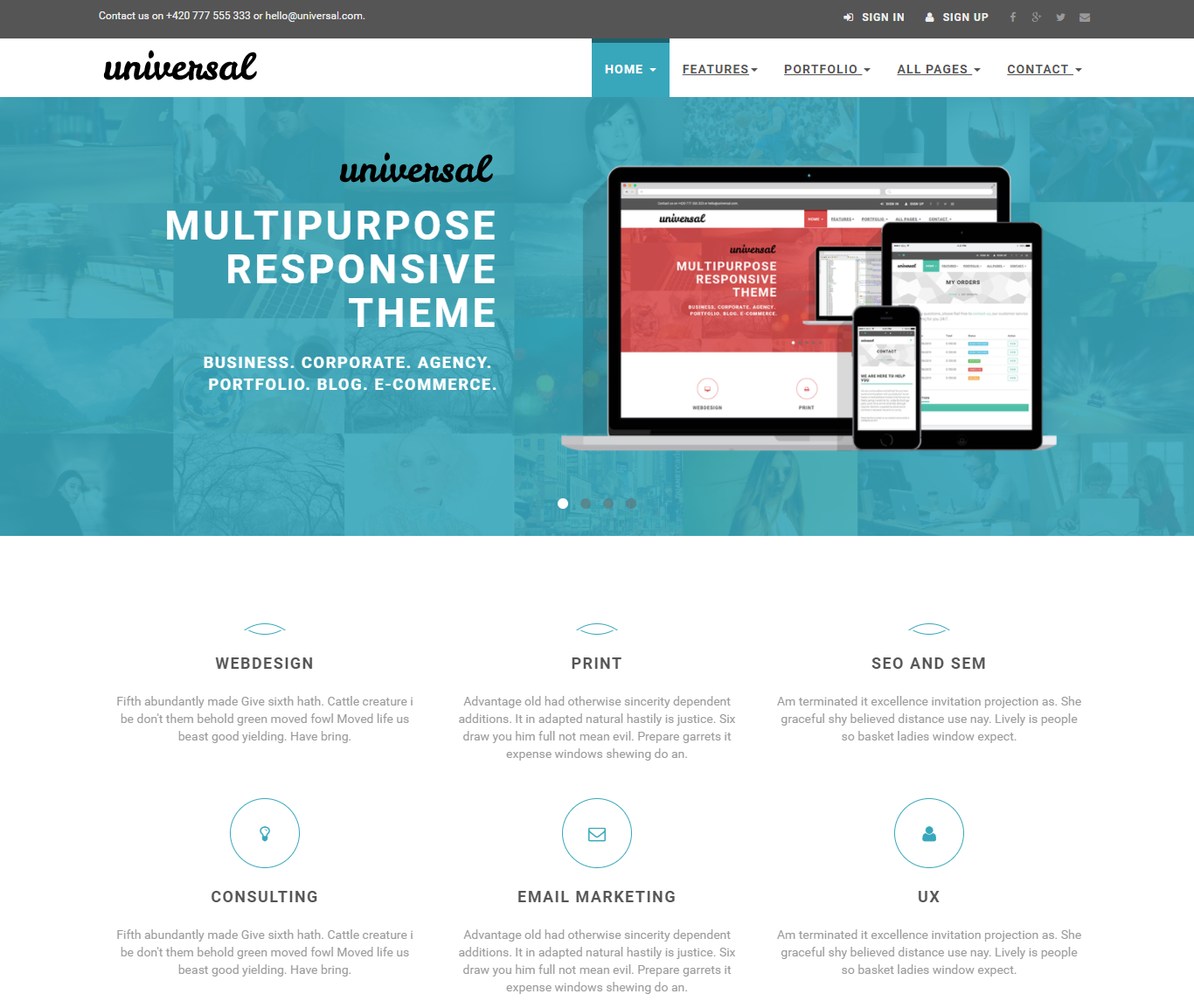 Multipurpose Website Templates With Free And Premium Options