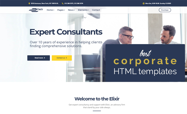 26 best corporate html templates free premium responsive and best corporate html templates accmission Choice Image