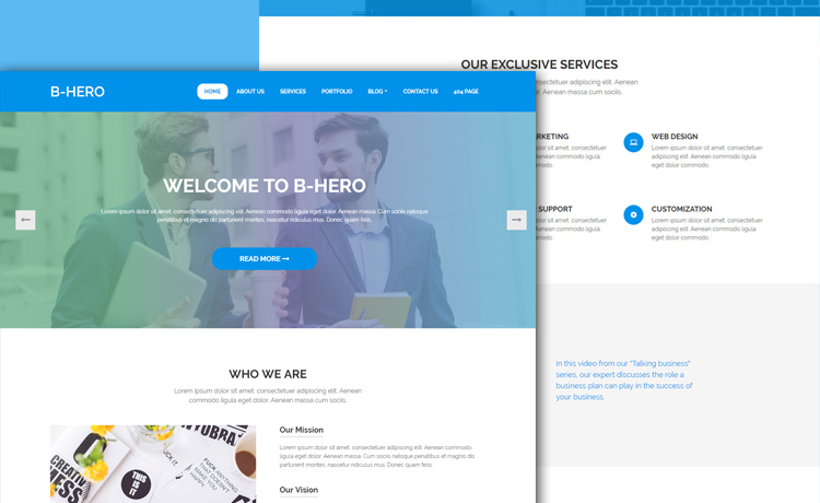 Free bootstrap 4 business website template for an enticing online free bootstrap 4 business website template wajeb Choice Image