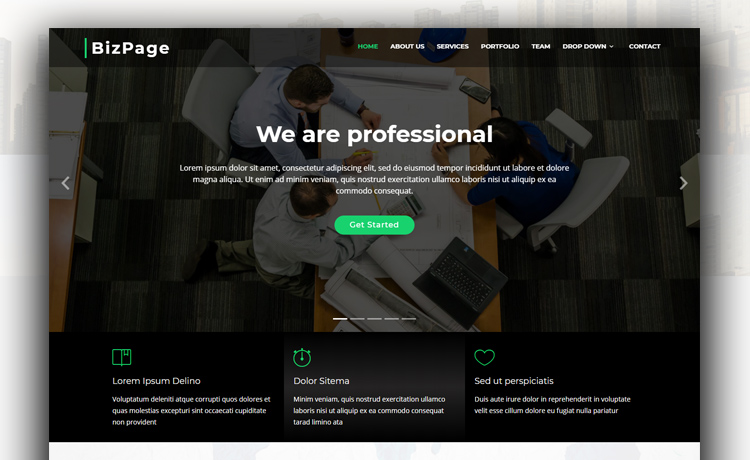 BizPage - Responsive, Free, and Seamless Bootstrap 4 Business Template
