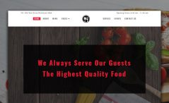 Bootstrap restaurant website template