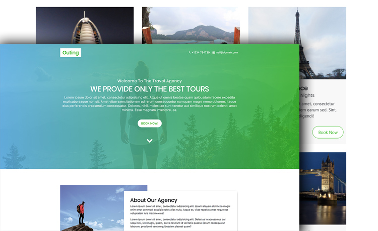 Free HTML5 Bootstrap 4 Travel Agency Website Template With a Clean ... b99ff13d7b6
