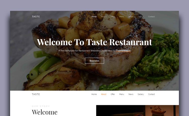 Free bootstrap 4 restaurant template for creating food website with menu free bootstrap 4 restaurant template maxwellsz