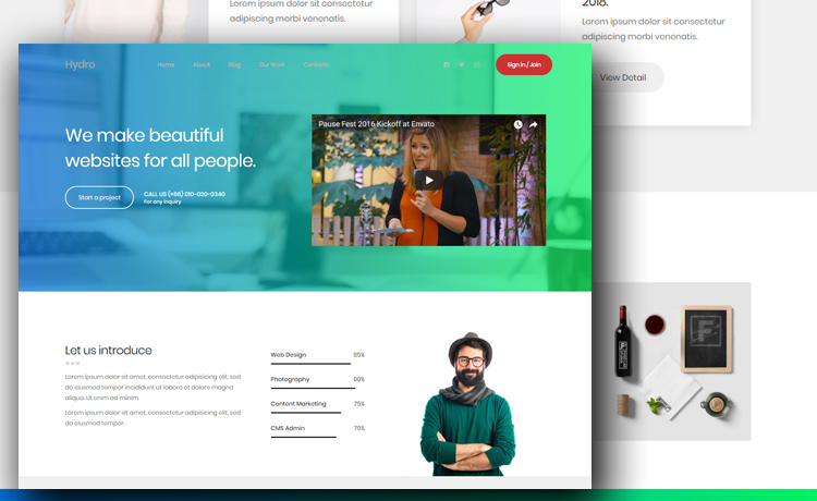 Free Portfolio Website Template To Create A Beautiful Personal Website - Create web page template