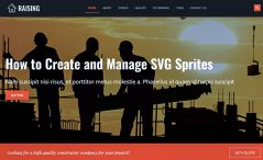 Free HTML5 Construction Agency Template