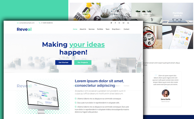 Responsive Bootstrap 4 Business Template