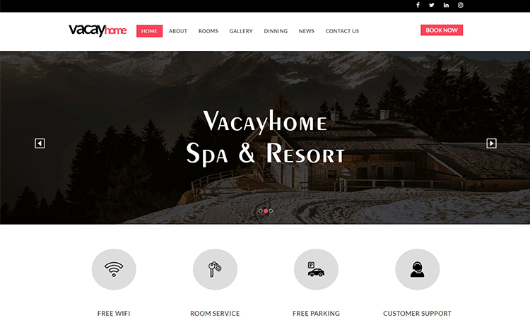 free html5 bootstrap hotel website template for any responsive hotel