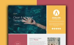 One page event website template