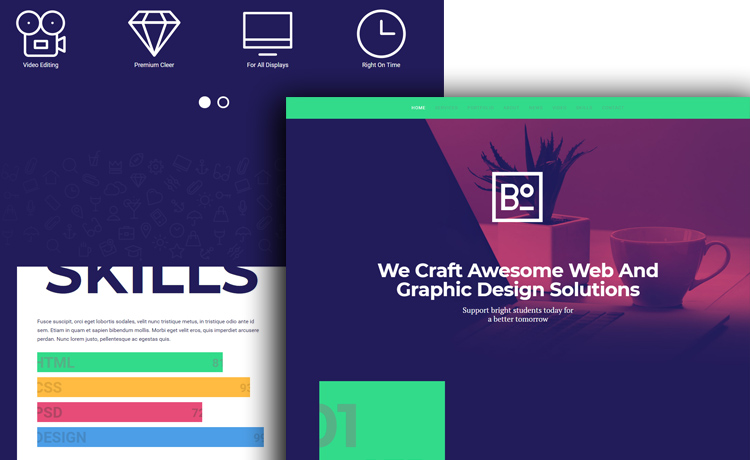 Web Design Mockup On Background