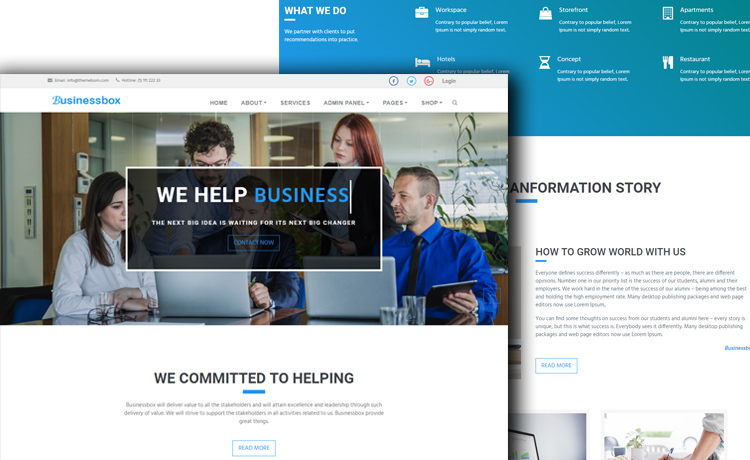 Multi-page Bootstrap 4 Business Template