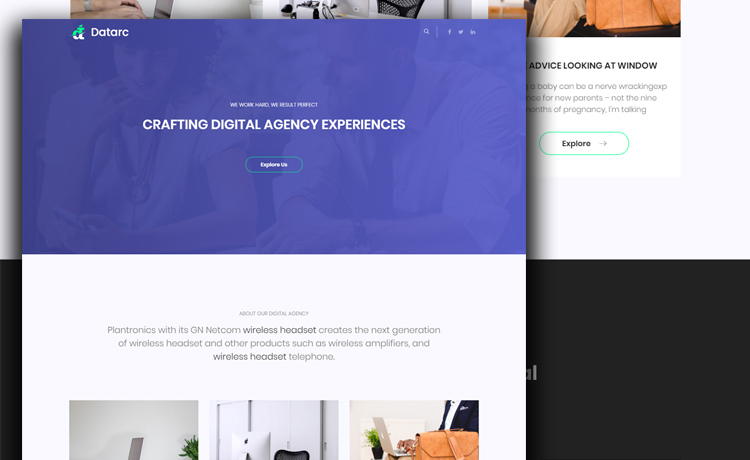 Bootstrap 4 One Page agency Template