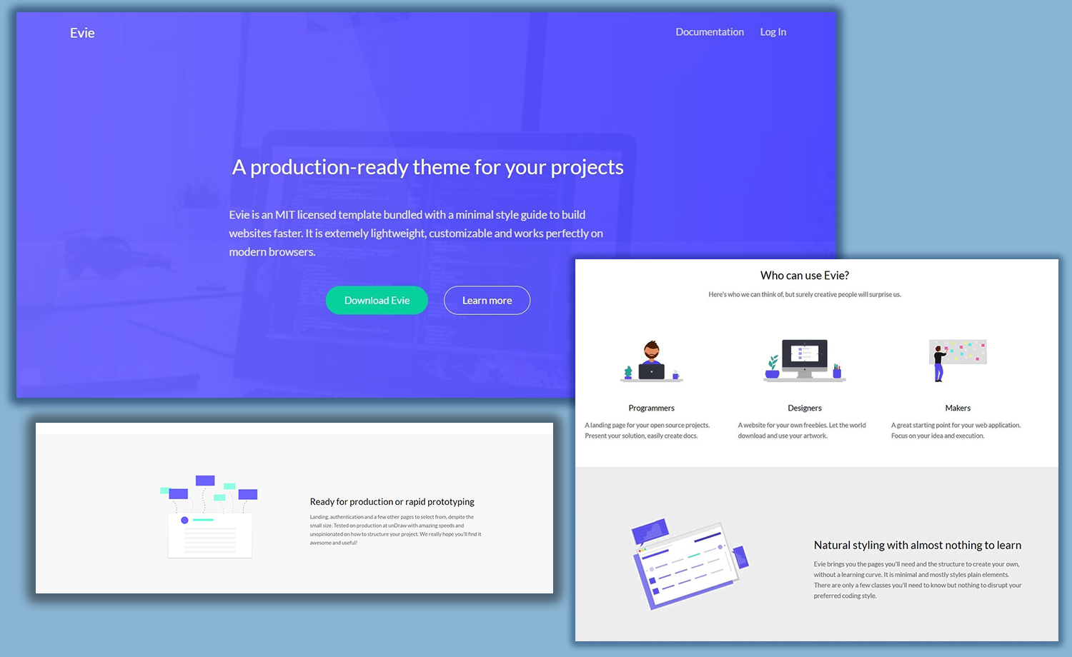 Production Ready Modern Free HTML Bootstrap Landing Page Template - Create web page template