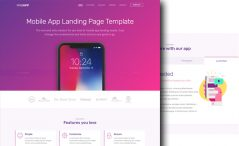 Bootstrap 4 App Landing Page Template