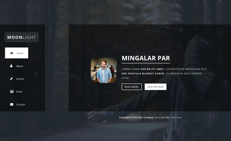 Free HTML5 One Page Bootstrap Template With Horizontal Page Sliding