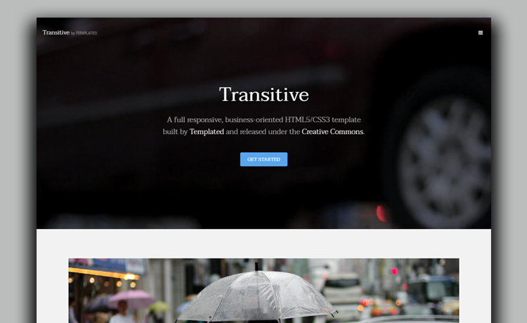 free HTML5 business template