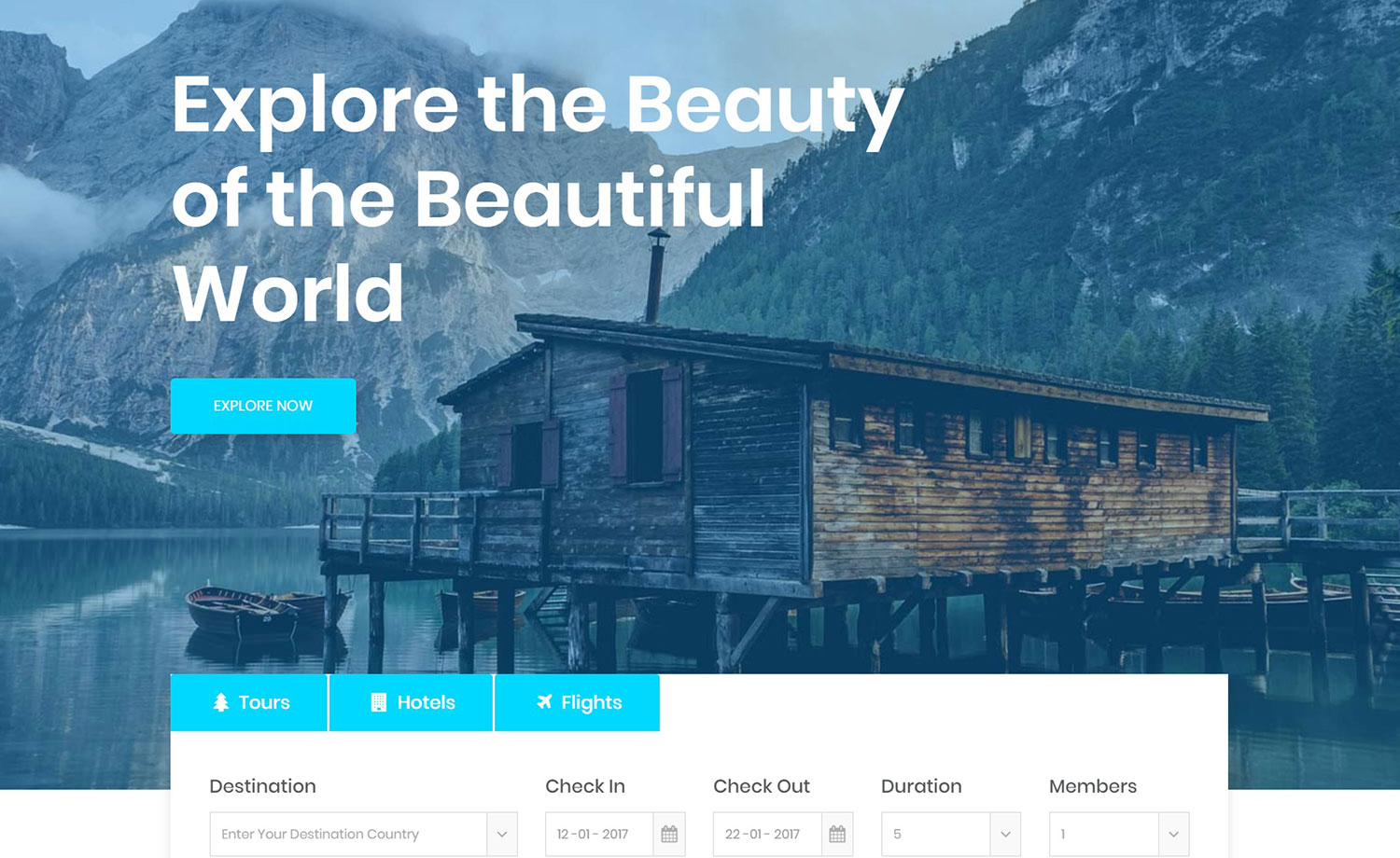 Responsive Travel Website Template