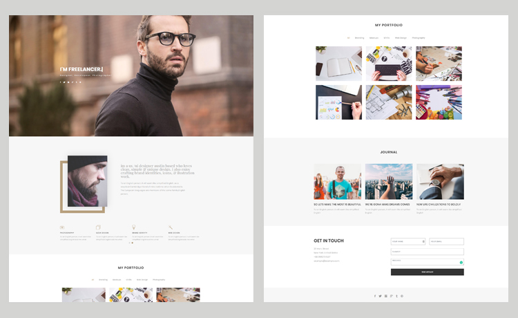 Free Bootstrap Personal Website Template For Engaging Portfolio