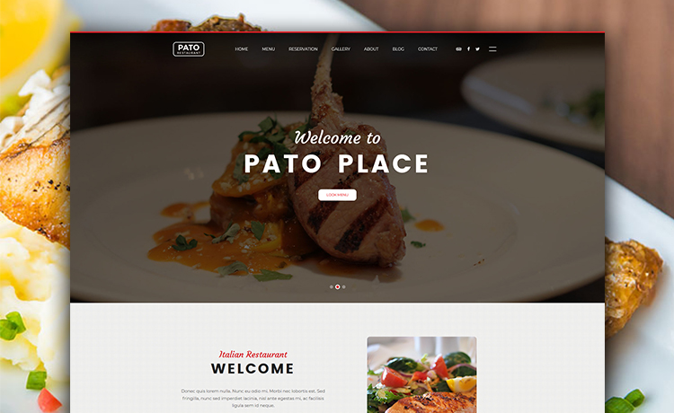 free multi page html5 bootstrap restaurant website template