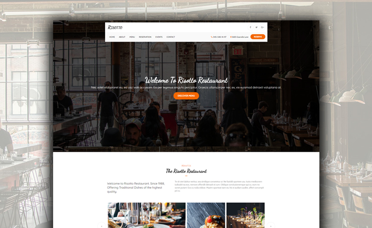Free HTML5 Restaurant Website Template