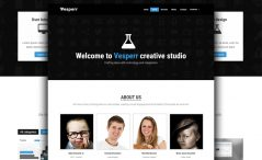 Free HTML5 One Page Template for Agency