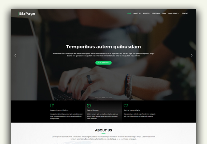 30 business website design template free download agency business website design template friedricerecipe Gallery