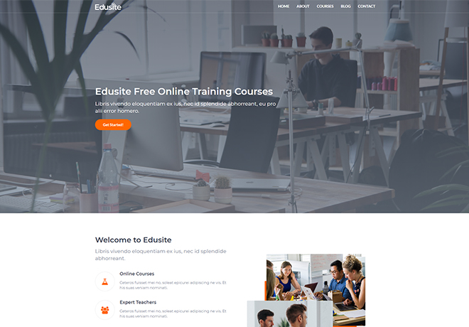 Free Responsive Bootstrap Template