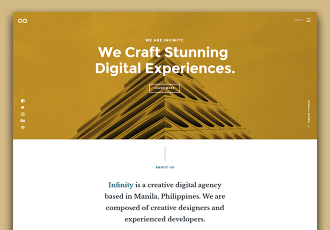 Agency business website design template