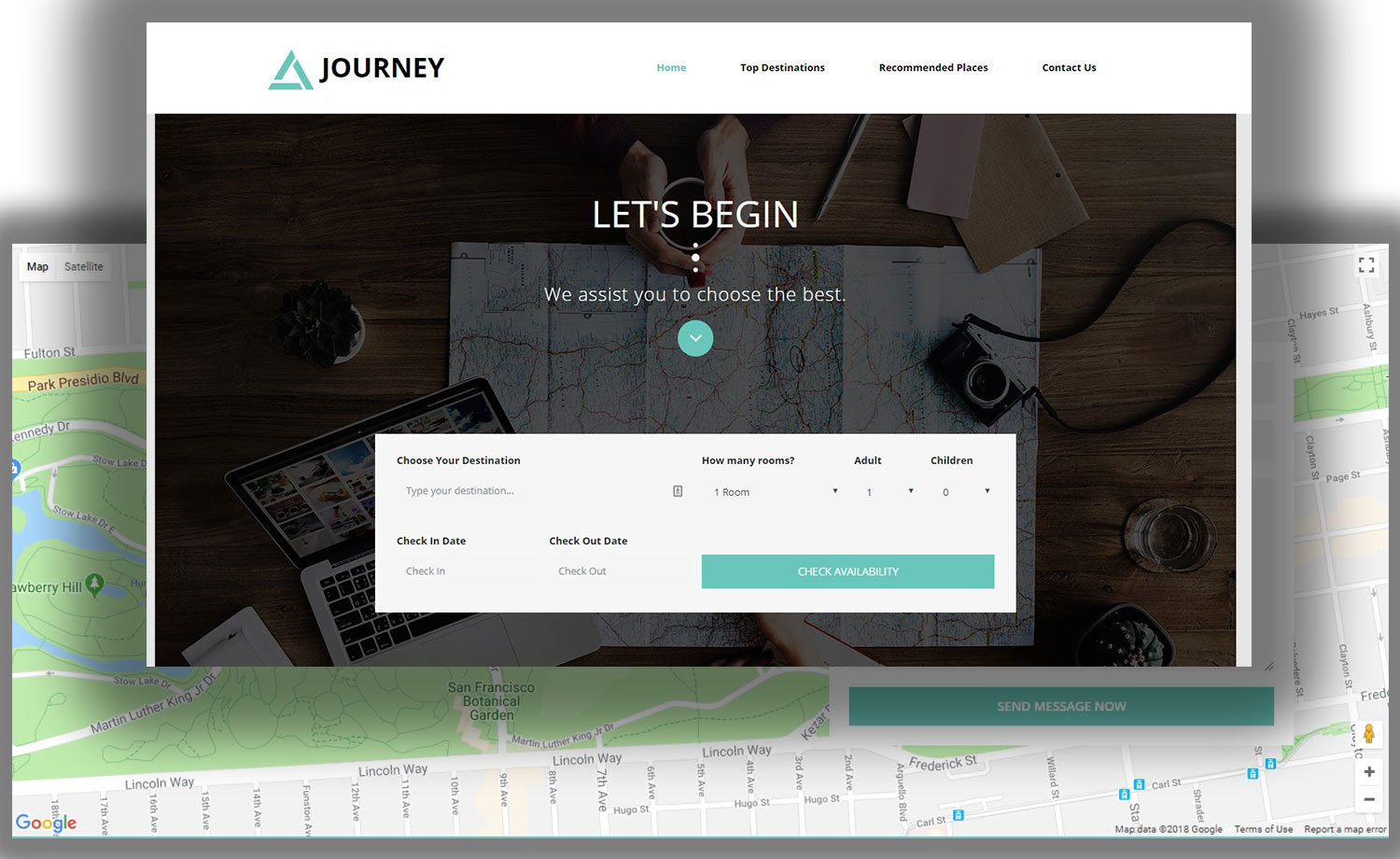 Free Bootstrap 4 Tour Agency Template for Travel Planning
