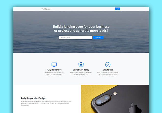 30 Awesome and Powerful Free Bootstrap 4 Templates You Can't