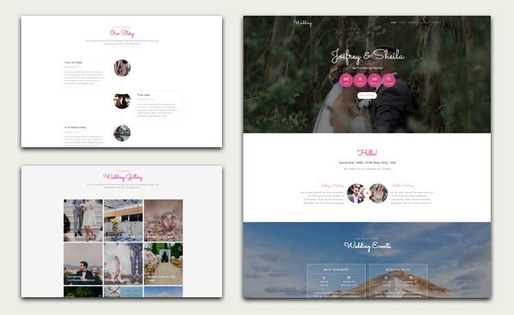 Wedding Web Template 5