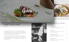 Free Food Restaurant One Page Website Template