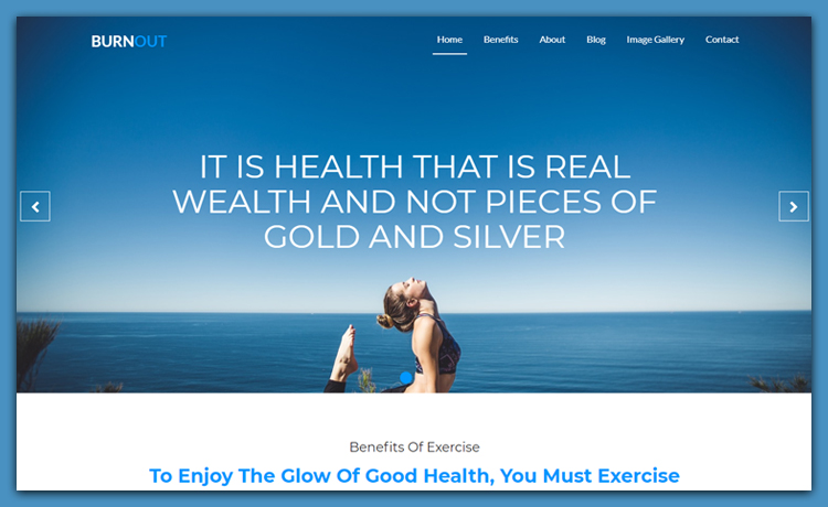 Free Bootstrap 4 Gym Website Template