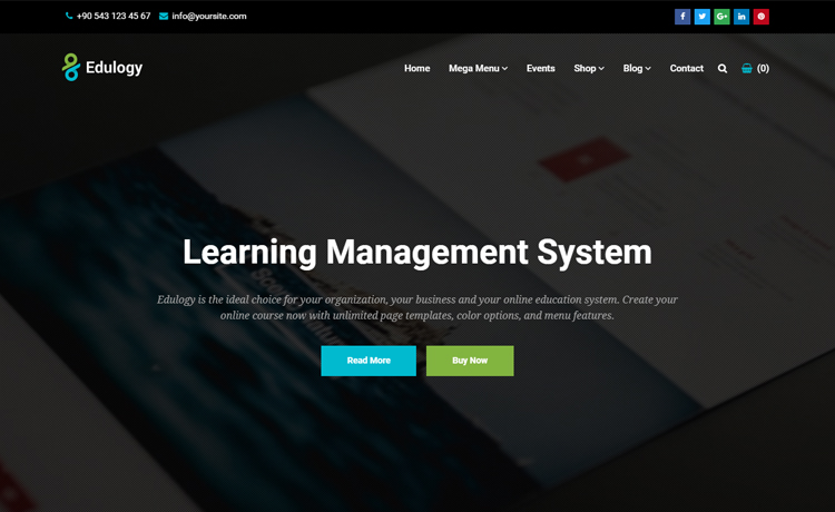 Edulogy - Free HTML Education Template To Create Websites ...
