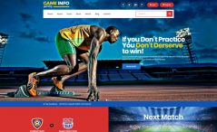 Free Bootstrap Sports Template