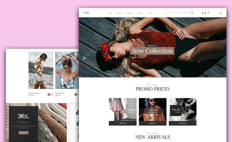 Free eCommerce Website Template