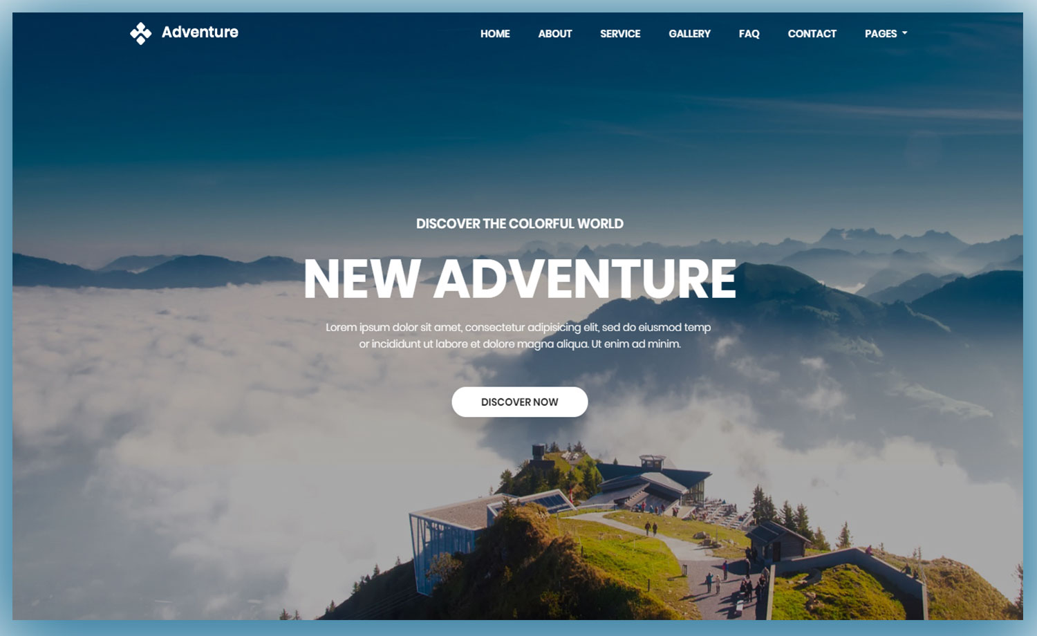 Download Free Bootstrap 4 Travel Website Template Adventure